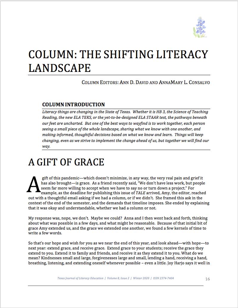 First page of Consalvo & David Column
